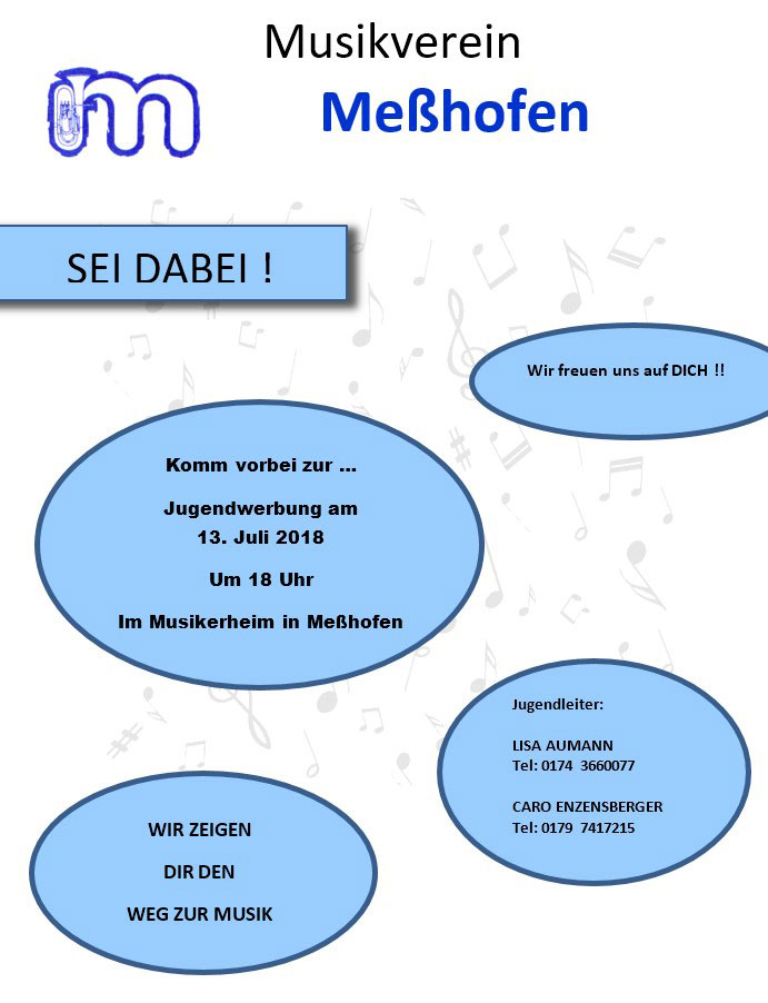 Musikverein Messhofen Jugendwerbung am 13. Juli 2018